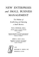 New Enterprises and Small Business Management