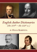 English Author Dictionaries (the XVIth – the XXIst cc.)