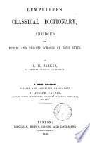 Lempriere S Classical Dictionary Abridged By E H Barker Book PDF