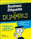 Business Etiquette For Dummies Pdf/ePub eBook