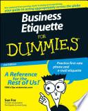 """Business Etiquette For Dummies"" by Sue Fox"