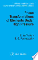 Phase Transformations of Elements Under High Pressure Book