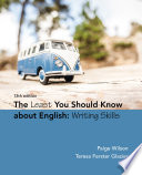 The Least You Should Know About English  Writing Skills Book