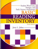 Basic Reading Inventory Student Booklet