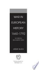 War In European History 1660 1792