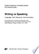 Writing Vs Speaking