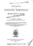 Historical And Literary Memorials Of Presbyterianism In Ireland 1623 1731  Book PDF
