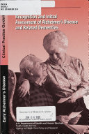 Recognition and Initial Assessment of Alzheimer s Disease and Related Dementias