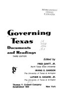 Governing Texas  Documents and Readings