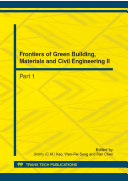 Frontiers of Green Building  Materials and Civil Engineering II