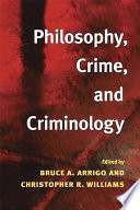 Philosophy Crime And Criminology