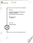 Interfacial Tensions of Molten Metal molten Salt Systems Book