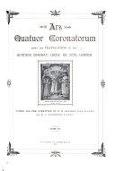 Ars Quatuor Coronatorum Book