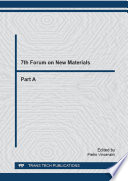 7th Forum On New Materials  Book PDF