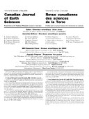 Canadian Journal of Earth Sciences Book