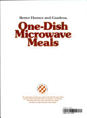 One dish Microwave Meals