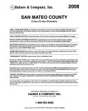 Haines San Mateo County Criss cross Directory