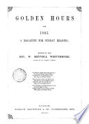 Golden Hours Ed By W M Whittemore Book PDF