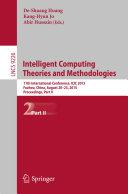 Intelligent Computing Theories and Methodologies