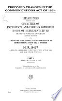 Proposed Changes In The Communications Act Of 1934