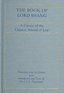 The Book of Lord Shang