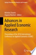 Advances In Applied Economic Research Book