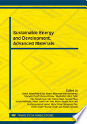 Sustainable Energy and Development, Advanced Materials