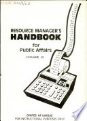 Resource Manager S Handbook For Public Affairs
