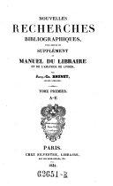 Manuel du libraire et de l'amateur des livres (etc.) 3. ed. augm ebook