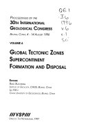 Proceedings of the 30th International Geological Congress Book