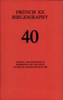 Pdf French XX Bibliography Telecharger