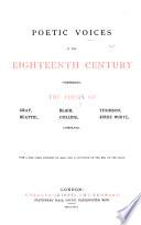 Poetic Voices of the Eighteenth Century Book