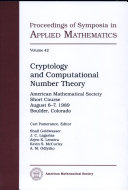 Cryptology and Computational Number Theory