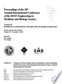 Proceedings of the 20th Annual International Conference of the IEEE Engineering in Medicine and Biology Society