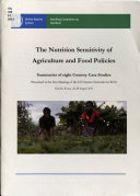 The Nutrition Sensitivity of Agriculture and Food Policies