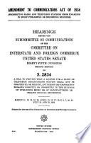 Amendment to Communications Act of 1934