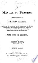 A Manual Of Practice In The Courts Of The United States Book PDF