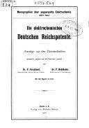 Die elektrochemischen deutschen Reichspatente