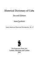 Historical Dictionary of Cuba