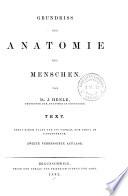 Grundriss der Anatomie des Menschen  , Bände 1-2