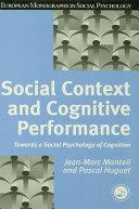 Pdf Social Context and Cognitive Performance Telecharger