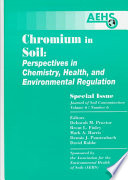Chromium In Soil Perspectives In Chemistry Health And Environmental Regulation