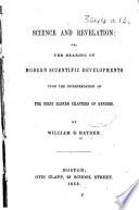 Science and Revelation, etc