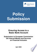Combat Poverty Agency Submission To The European Commission On Ensuring Access To A Basic Bank Account 2009