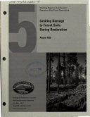 Limiting Damage to Forest Soils During Restoration Book
