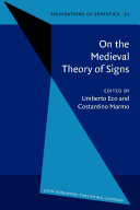 Pdf On the Medieval Theory of Signs Telecharger