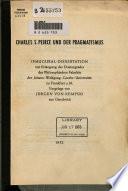 Charles S. Peirce und der Pragmatismus