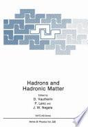Hadrons and hadronic matter