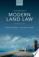 Thompson S Modern Land Law