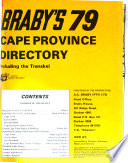 Braby's Cape Province Directory